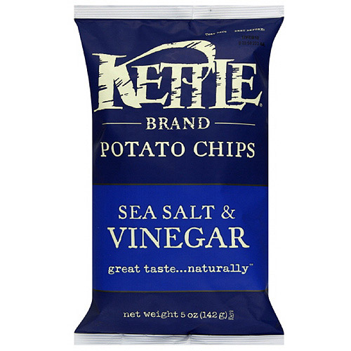Kettle Brand Sea Salt & Vinegar Potato Chips, 5 oz (Pack of 15)