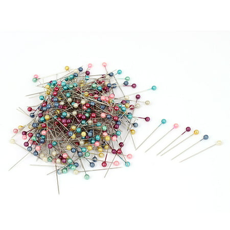 Unique Bargains 325pcs Assorted Color Faux Pearl Weddings Corsage Florists Ball Head Sewing Pin