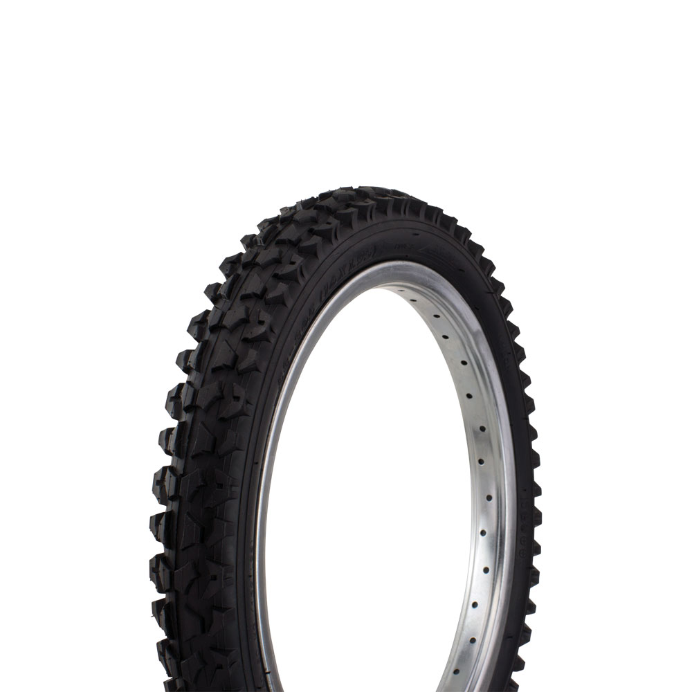 "Mountain Bicycle Tire Wanda 16"" x 1.75"" P-1001 MTB Thread Mountain,bike tire, Various Colors (Black)"