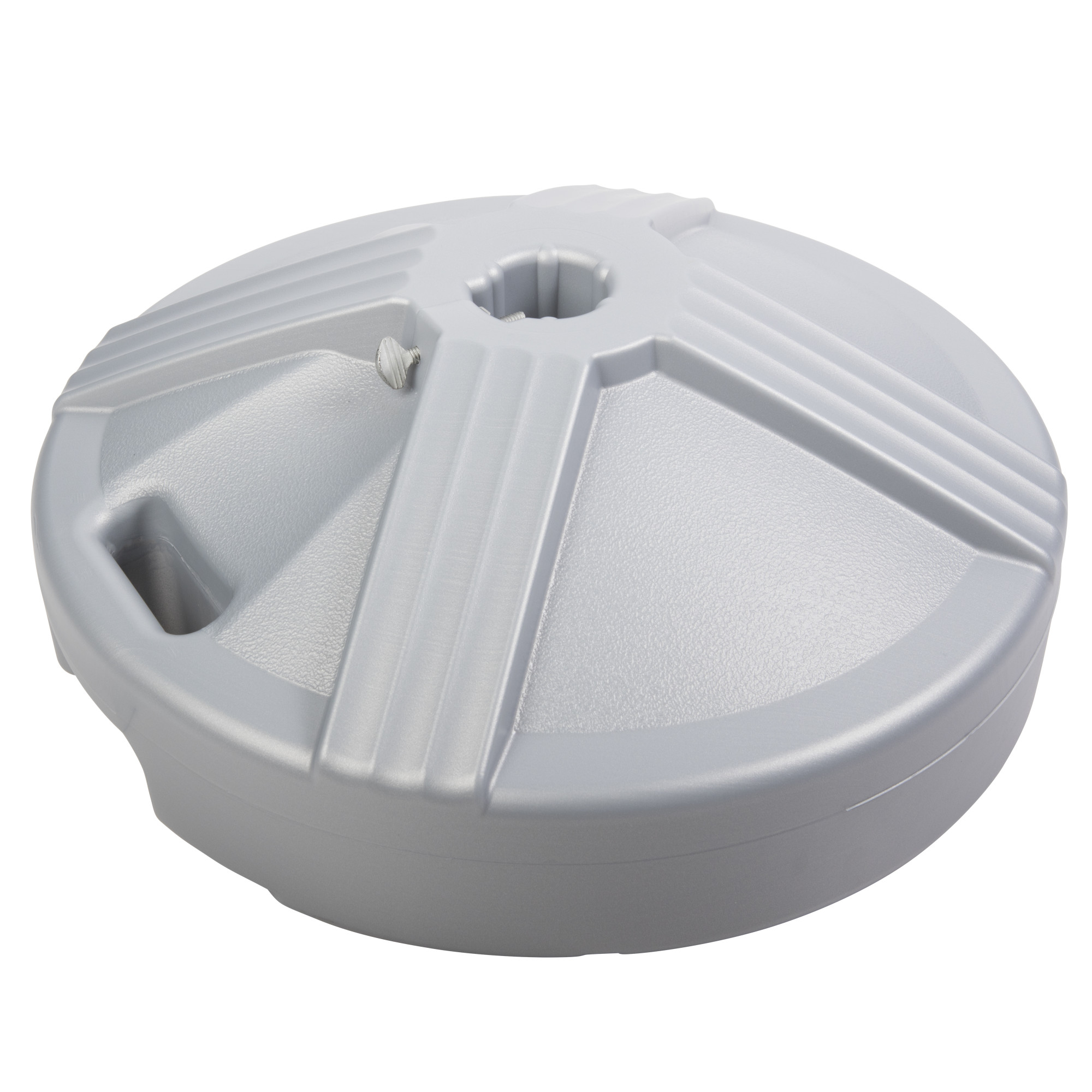 US Weight Durable Fillable Umbrella Base Designed to be Used with a Patio Table (Platinum Silver)