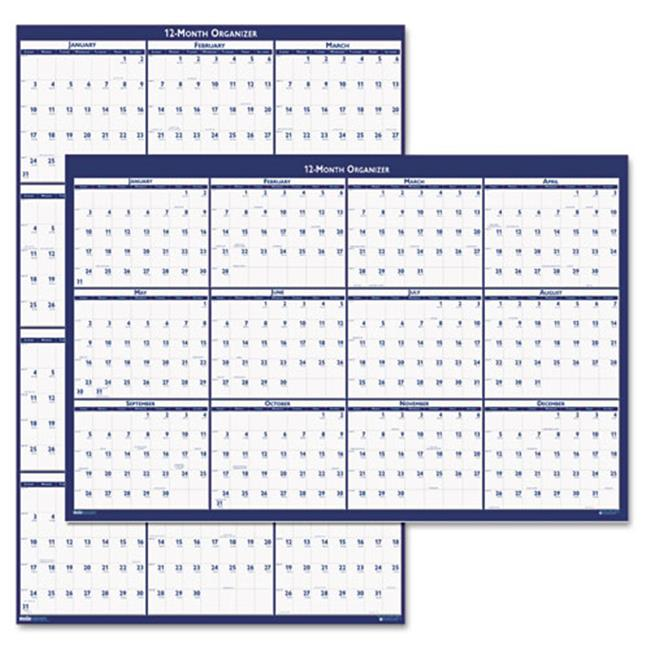 Wall Planner, Laminated, 12 Month, Jan-Dec, 32x48