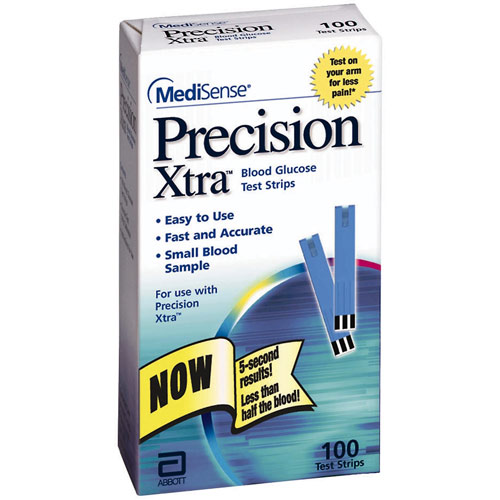 Precision Xtra Blood Glucose Test Strips 100 Each