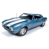 1967 Chevrolet Camaro Z/28 50th Anniversary Nantucket Blue Limited Edition to 1002pcs 1/18 Diecast Model Car Autoworld