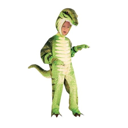Plush Green T-Rex Dinosaur Costume Small](Green Olive Costume)