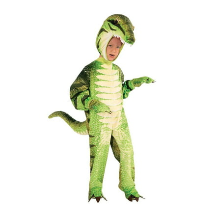 Plush Green T-Rex Dinosaur Costume Small