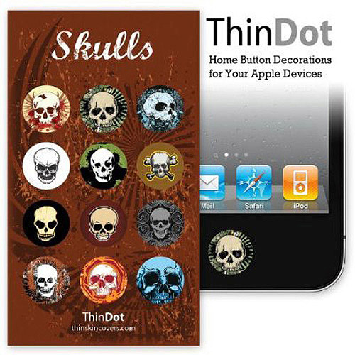ThinDot Home Button Stickers for iPhone, iPad and iPod touch, Skulls