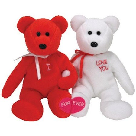 TY Beanie Babies - I LOVE YOU the Bears (set of 2) - Walmart.com 81310b19571d