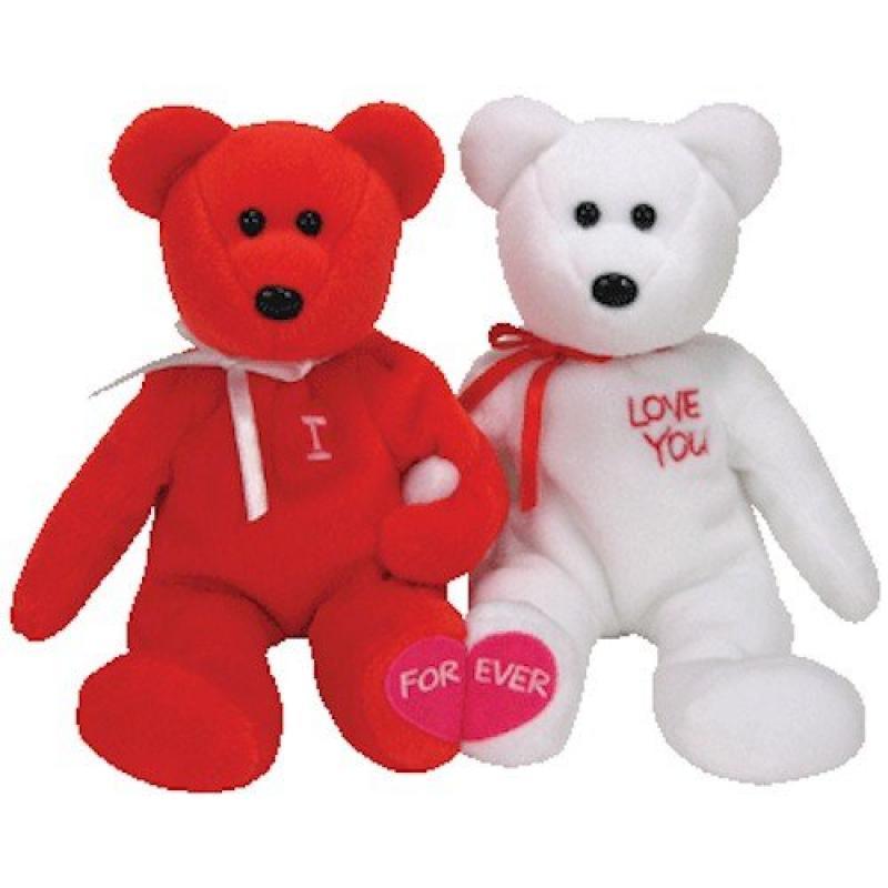 TY Beanie Babies - I LOVE YOU the Bears (set of 2)