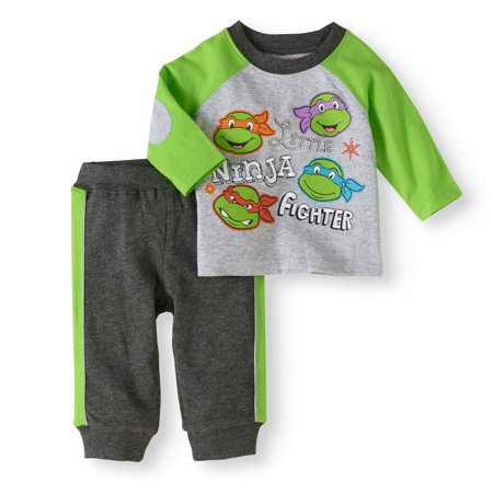 Newborn Baby Boy Long Sleeve T-Shirt and Pant 2pc Outfit - The Undertaker Outfit