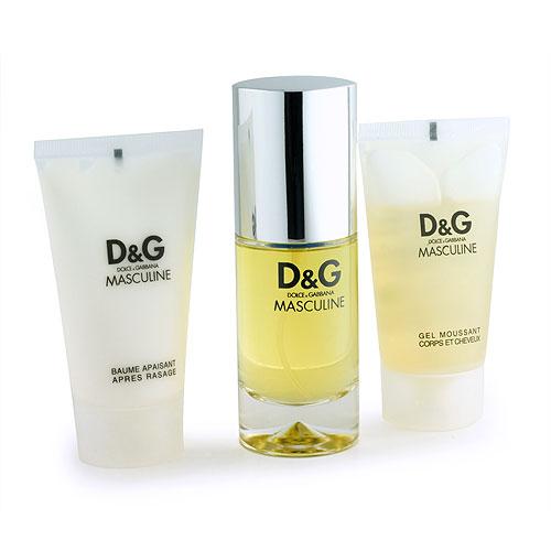 MASCULINE by D&G DOLCE & GABBANA 3 pc 1.7 Men Cologne Gift Set NIB