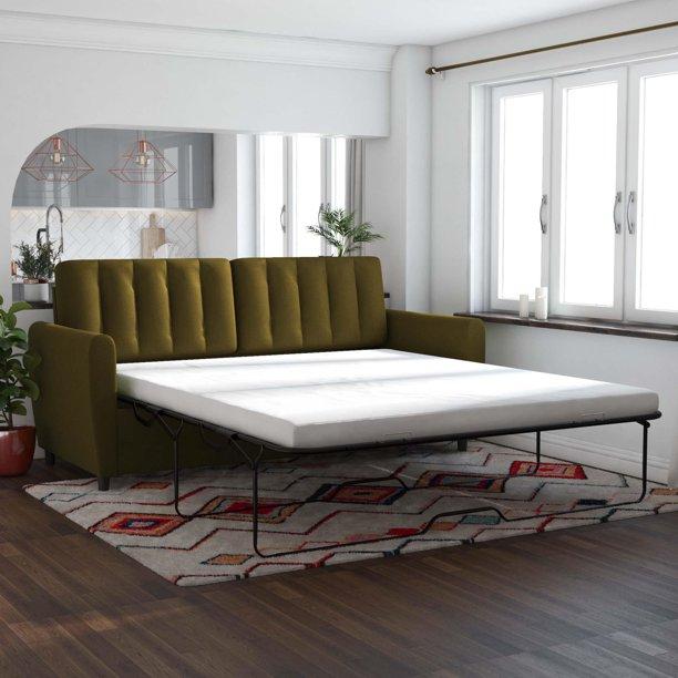 Novogratz Brittany Pullout Queen Sofa Bed, Green