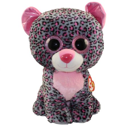 TY Beanie Boos - TASHA the Pink & Grey Leopard (LARGE Size - 17 inch)