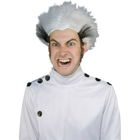 Mad Scientist Adult Halloween Wig (Black And White Halloween Wig)
