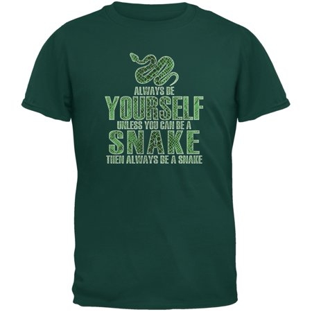 Always Be Yourself Snake Forest Green Youth T-Shirt (Youth Large Forest Green)