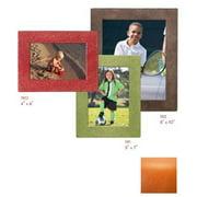 Raika RO 190 ORANGE 4in. x 6in. Square Edge Leather Frames - Orange