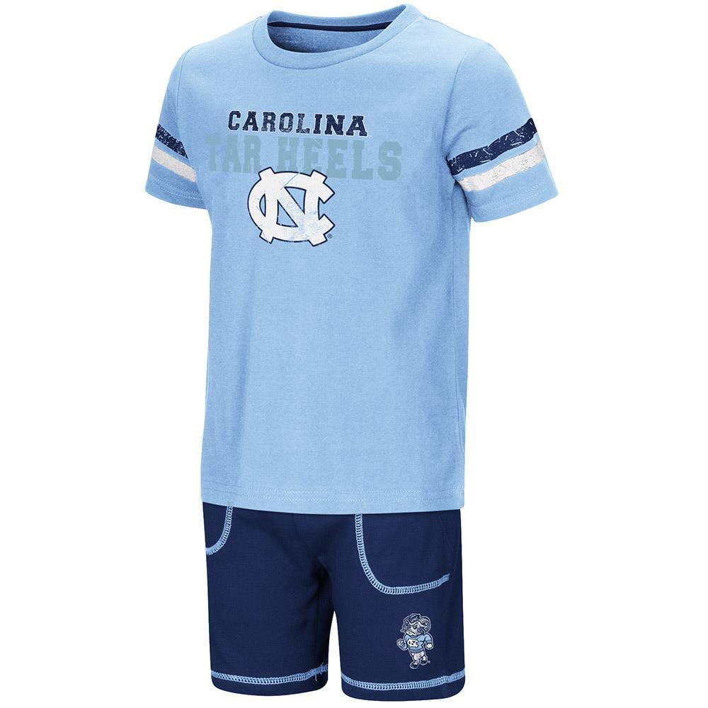 Toddler UNC Tar Heels Short Sleeve Tee Shirt and Shorts Set - 2T