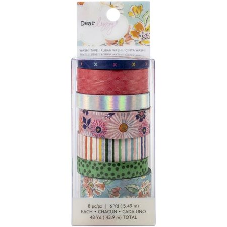 American Crafts 355261 Shes Magic Washi Tape with Iridescent Foil Accents - 8 Roll