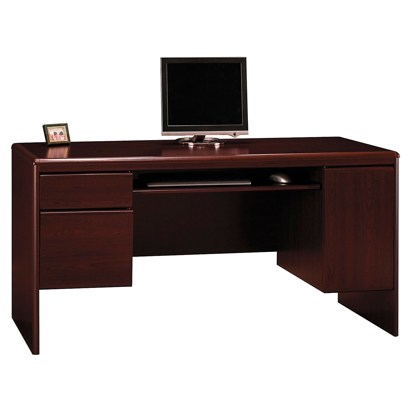 "Bush Northfield 62"" Credenza, Harvest Cherry by Bush Industries"