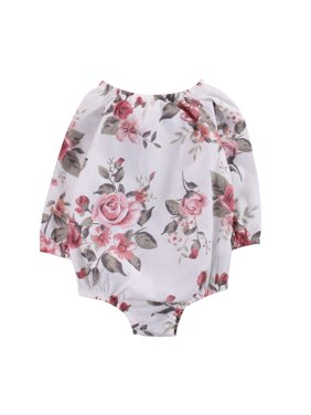 604f7b3bdf7 Product Image Infant Baby Toddler Girls Floral Printed Long Sleeve Romper  Jumpsuit Outfits 0-3 Months