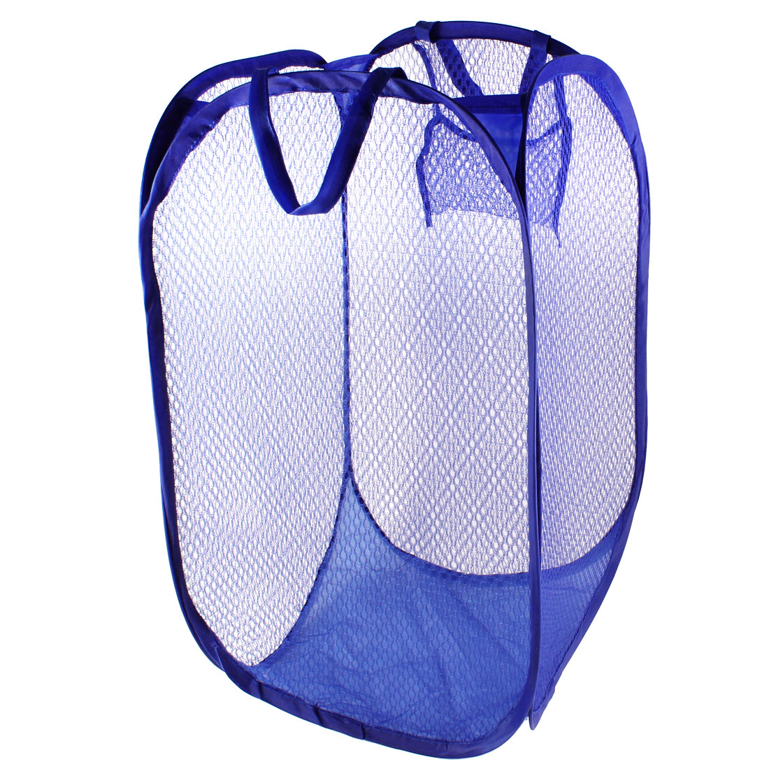 Unique Bargains Home Dark Blue Meshy Basket Clothing Underwear Folded Basket Bag Container