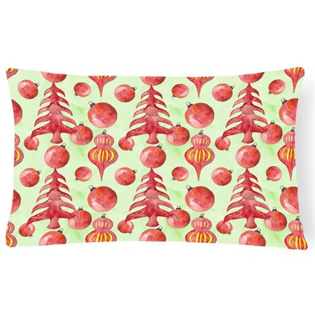 Carolines Treasures BB7483PW1216 Red Christmas Tree & Ornaments Canvas Fabric Decorative Pillow, 12 x 16 in. - image 1 de 1