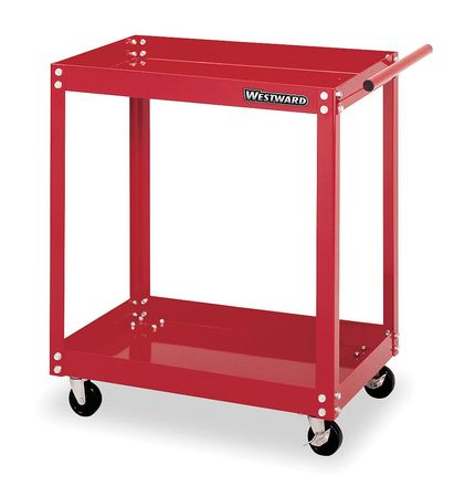 Westward Rolling Tool Cart, Standard Use, Steel, Red, 2CZY4