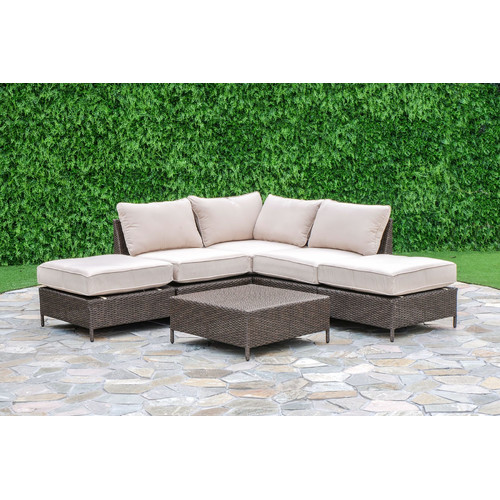 Creative Living Palm Cove 6 Piece Deep Seating Group with Cushions