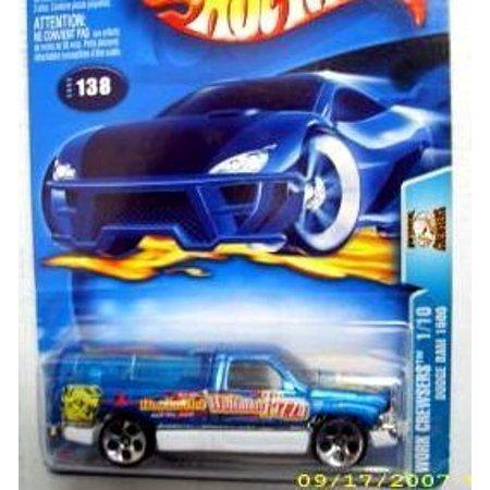 Hot Wheels 2003-138 Work Crewsers Blue Dodge Ram 1500 Highway 35 1:64 Scale
