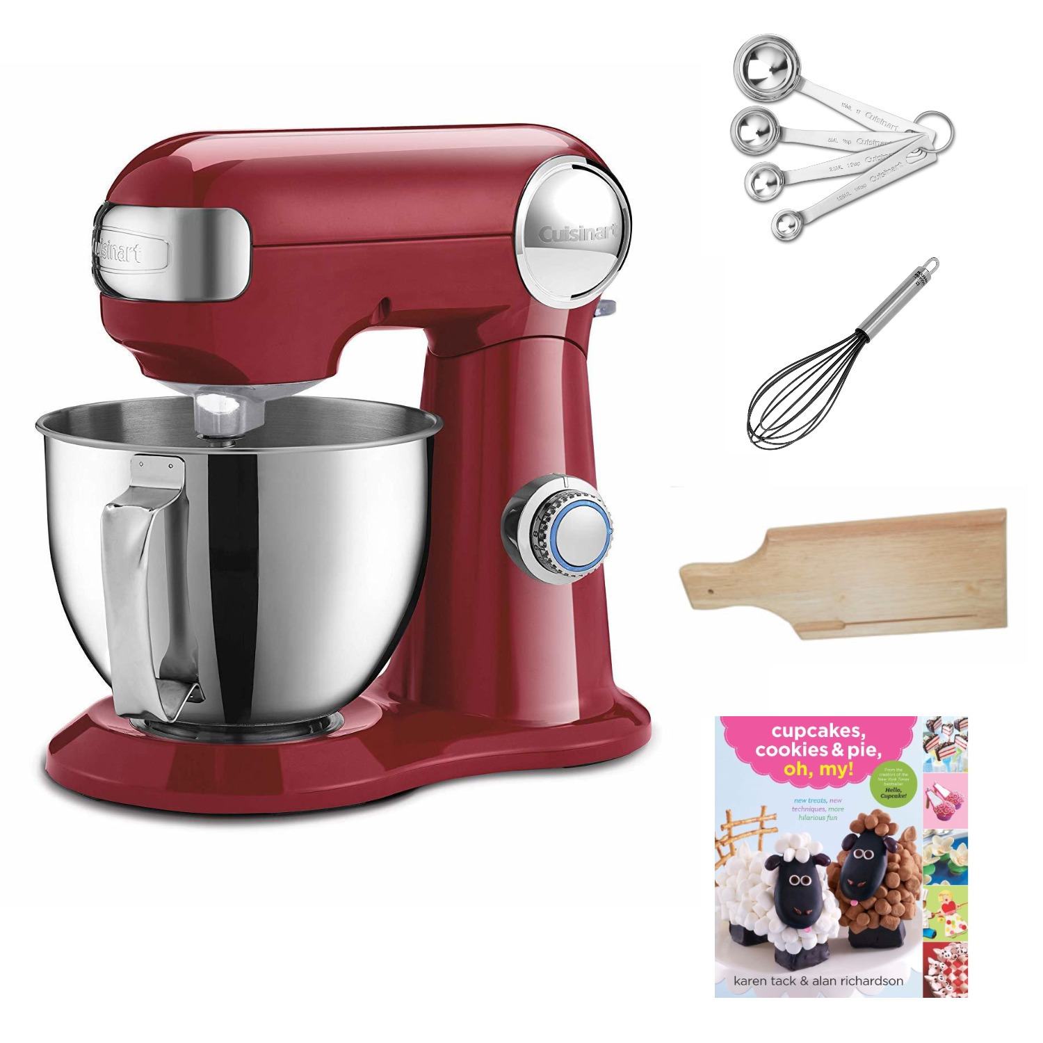 Cuisinart Precision Master 3.5 Quart Stand Mixer (Ruby Red) w/ Accessories