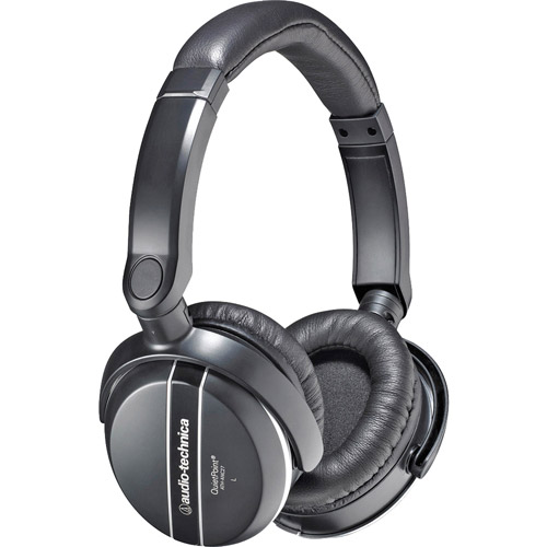 Audio-Technica ATH-ANC27 QuietPoint Active Noise-Canceling Headphones And Travel Case