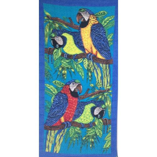 Kaufman Sales Parrots Printed Beach Towel