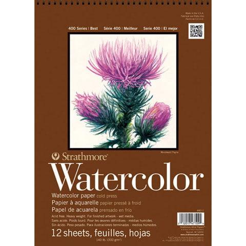 "Strathmore 11"" x 15"" Cold Press Wire Bound Watercolor Pad"