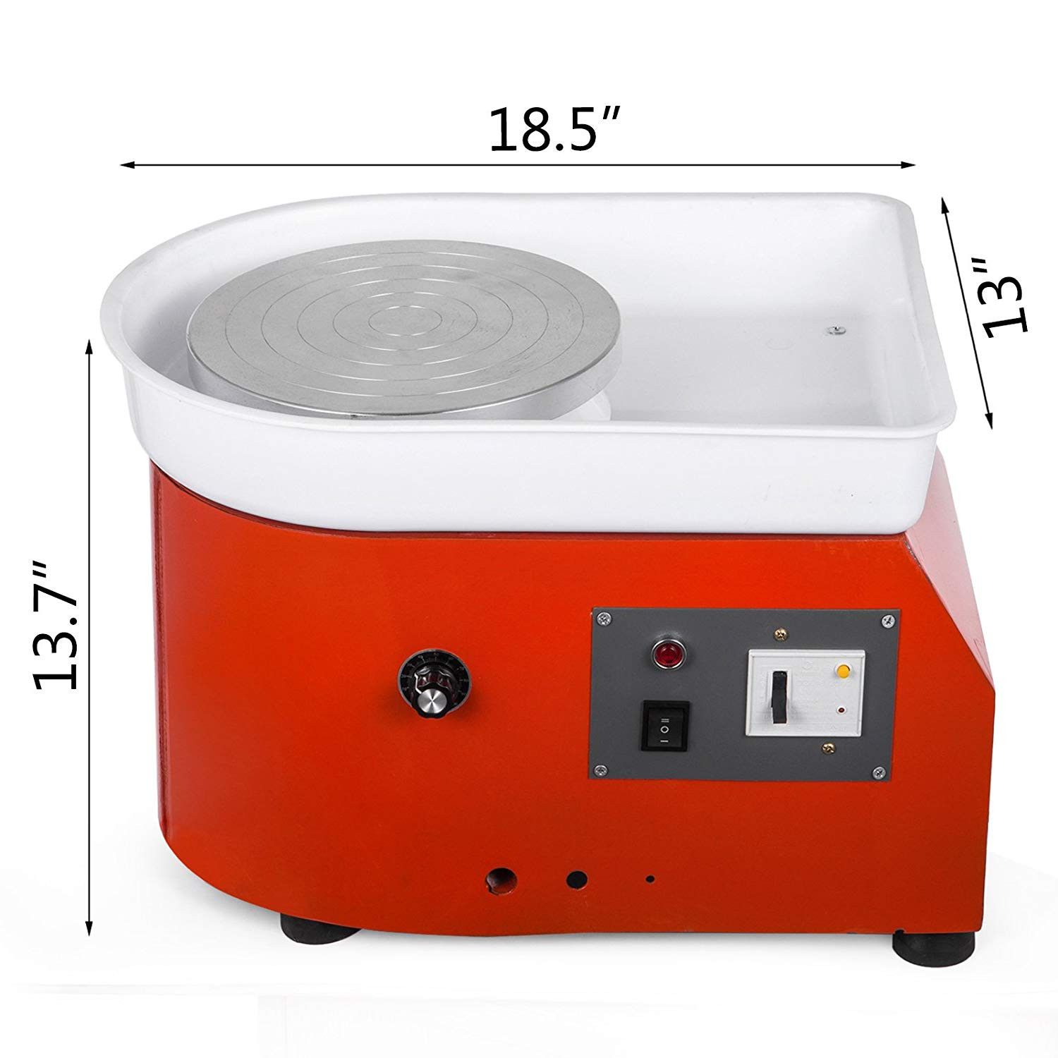 Pottery Forming Machine Red 9.8 Table Top Pottery Wheel Ceramics Clay Tool Molding Machine 25cm