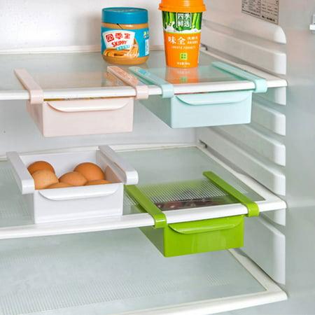 Ménage Plastique Réfrigérateur Rangement Tiroir Coulissant étagère Plateau Vert - image 2 de 3