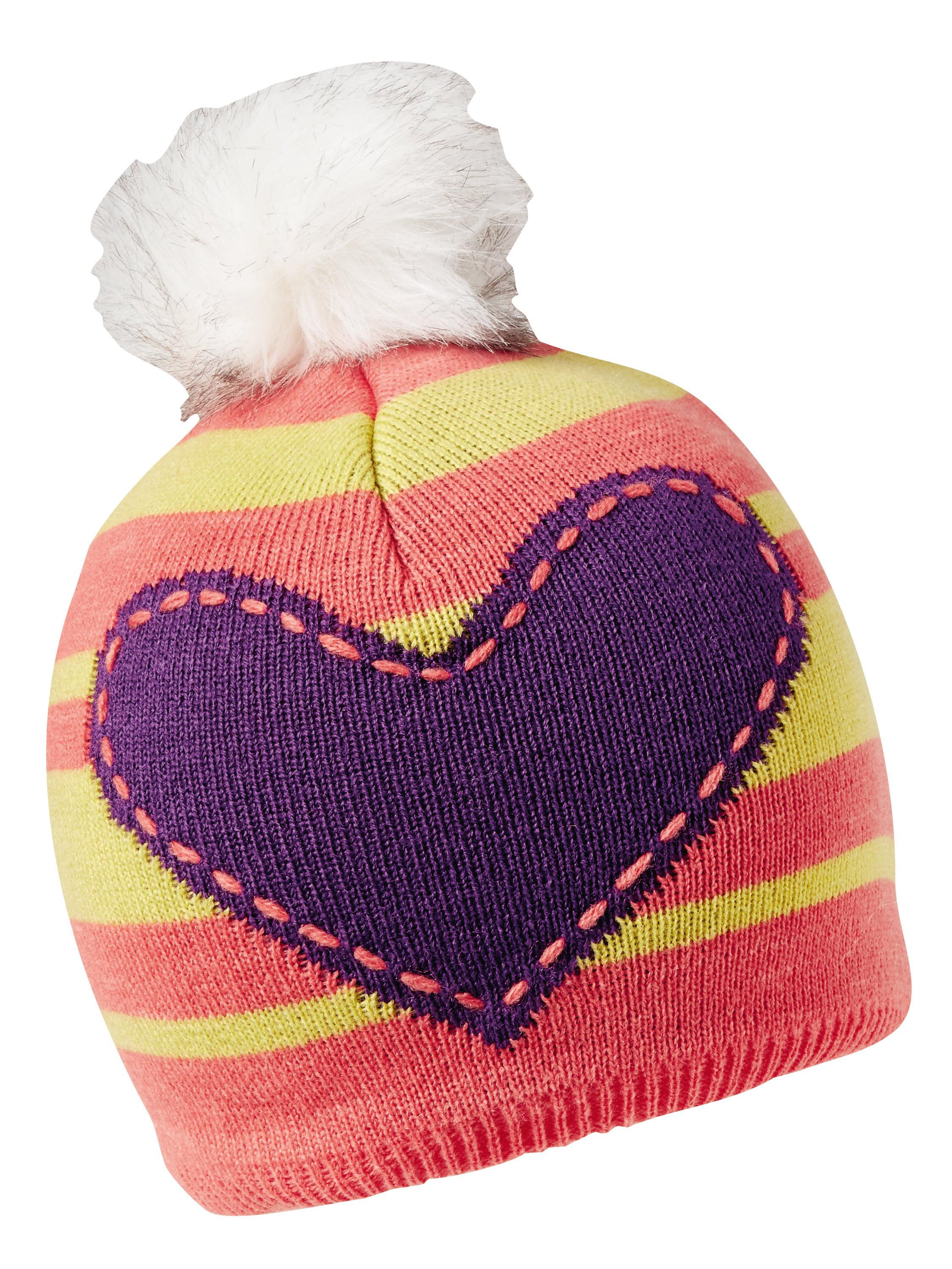 Turtle Fur Winnie Girl's Pom Fleece Lined Heart Winter Hat by Turtle Fur
