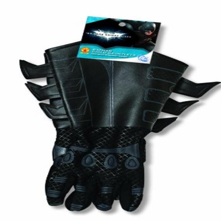 - Batman: The Dark Knight Rises: Batman Gloves with Gauntlets, Child Size (Black)