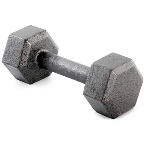 Weider Cast Iron Hex Dumbbell, 3-70lbs