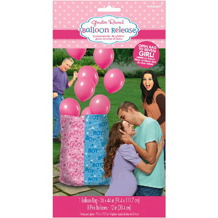 Baby Shower Gender Reveal 'Girl or Boy' Girl Balloon Release Kit (9pc)](Gender Reveal Boxes)