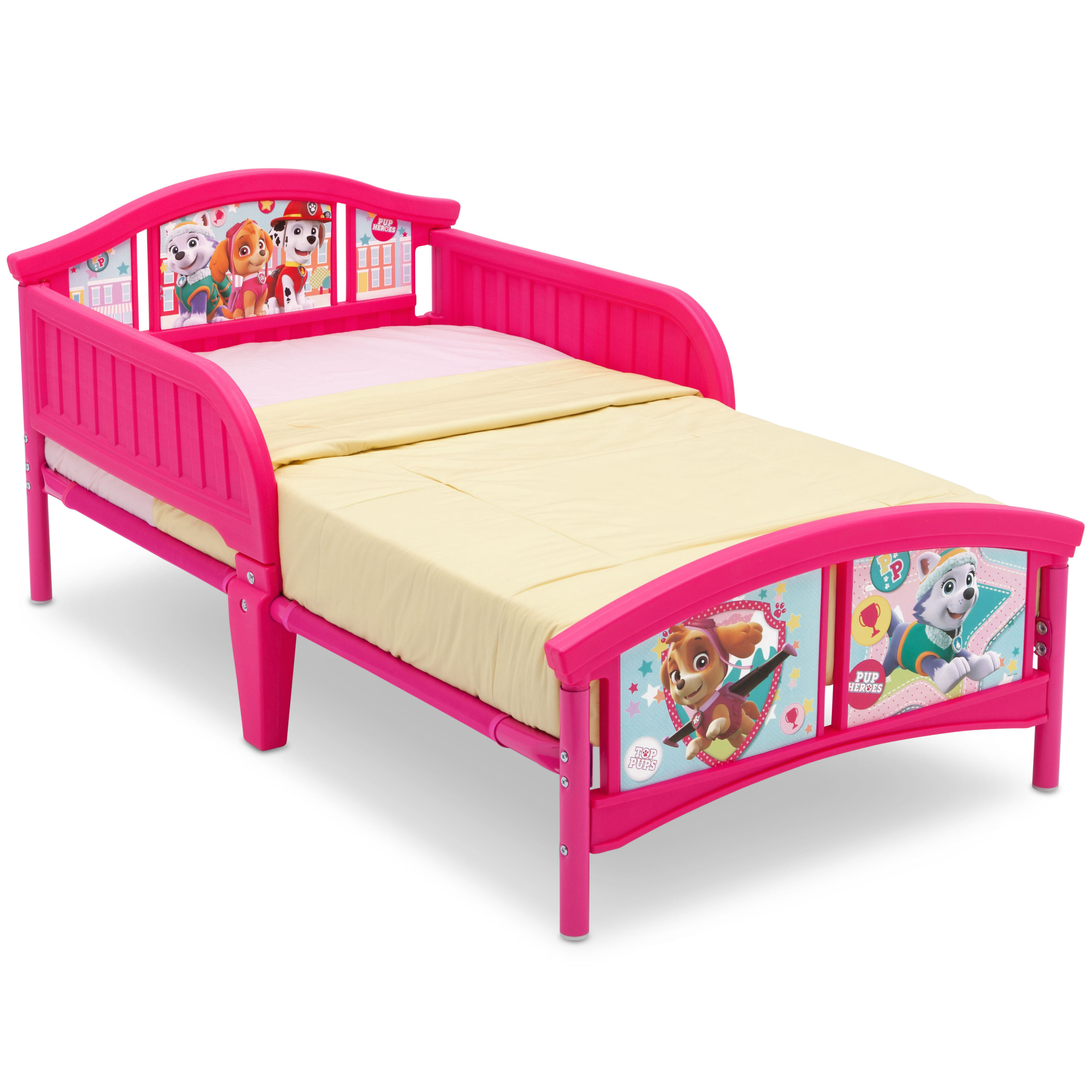 Paw Patrol Skye Amp Everest Plastic Toddler Bed Walmart Com