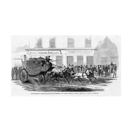 Butterfield's Overland Mail-Coach Starting out from Atchison, Kansas. Print Wall Art](Party City Overland Park Kansas)