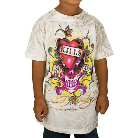 Ed Hardy Kids Girls Love Kills T-Shirt