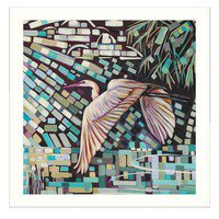 """""""The Islander"""" By Ed Wargo, Printed Wall Art, Ready To Hang Framed Poster, White Frame - image 1 de 1"""