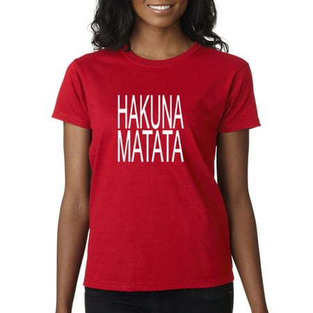 New Way 435 - Women's T-Shirt Hakuna Matata The Lion King Simba Timon - Timon And Pumbaa Halloween Costumes For Adults