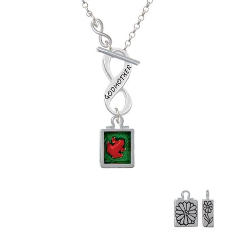 Red tree frog in shadow box to infinity godmother toggle necklace red tree frog in shadow box to infinity godmother toggle necklace aloadofball Gallery
