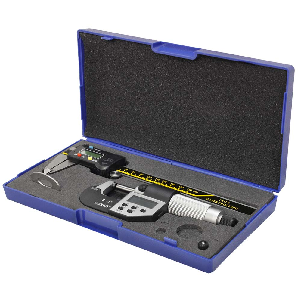 6'' IP54 150mm Digital Caliper 0-25mm Micrometer COMBO INOX Waterproof