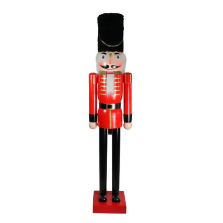 Northlight Seasonal Giant Commercial Size Red and Black Wooden Christmas Nutcracker