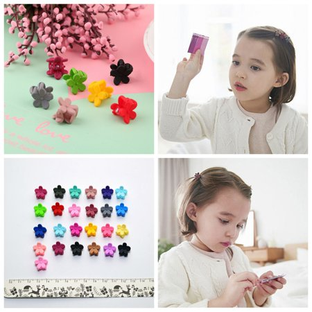 50PCS Hairpins,Kapmore Baby Girls Mini Flower Hair Claws Hair Clips, Assorted Color