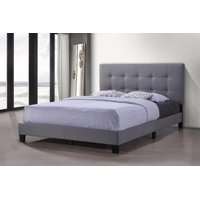 Queen Bed Frame, SEGMART Modern Upholstered Platform Bed with Headboard, Light Gray Heavy Duty Bed Frame with Wood Slat Support for Adults Teens Children, No Box Spring Required, I9769