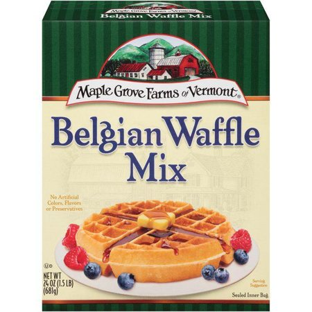 - Maple Grove Farms of Vermont Belgian All Natural Waffle Mix 24 Oz (Pack of 6)