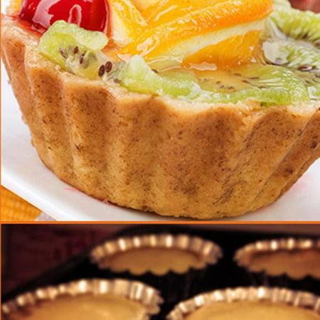 10pcs Egg Tart Aluminum Cupcake Cake Cookie Mold Pudding Mould Tin Baking Tool